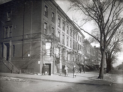 Lenox Avenue between 132nd and 133rd streets, c. 1915