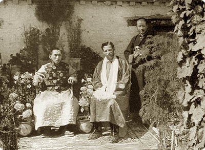 Theos Bernard with Reting Rinpoche
